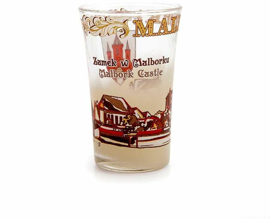 Kieliszek szklany Malbork Zamek sepia