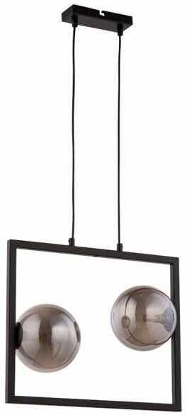 Lampa sufitowa wisząca ramka COSMIC 2 ZWIS czarny/szary 32125