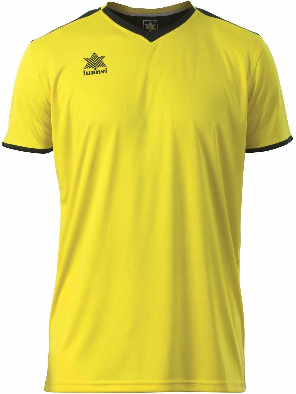 Luanvi Męski T-shirt Match z krótkimi rękawami. żółty żółty S