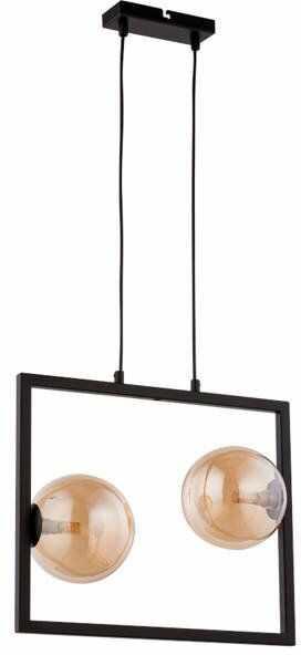 Lampa sufitowa wisząca ramka COSMIC 2 ZWIS czarny/bursztynowy 32126