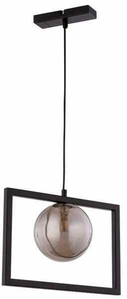 Lampa sufitowa wisząca ramka COSMIC 1 ZWIS czarny/szary 32129