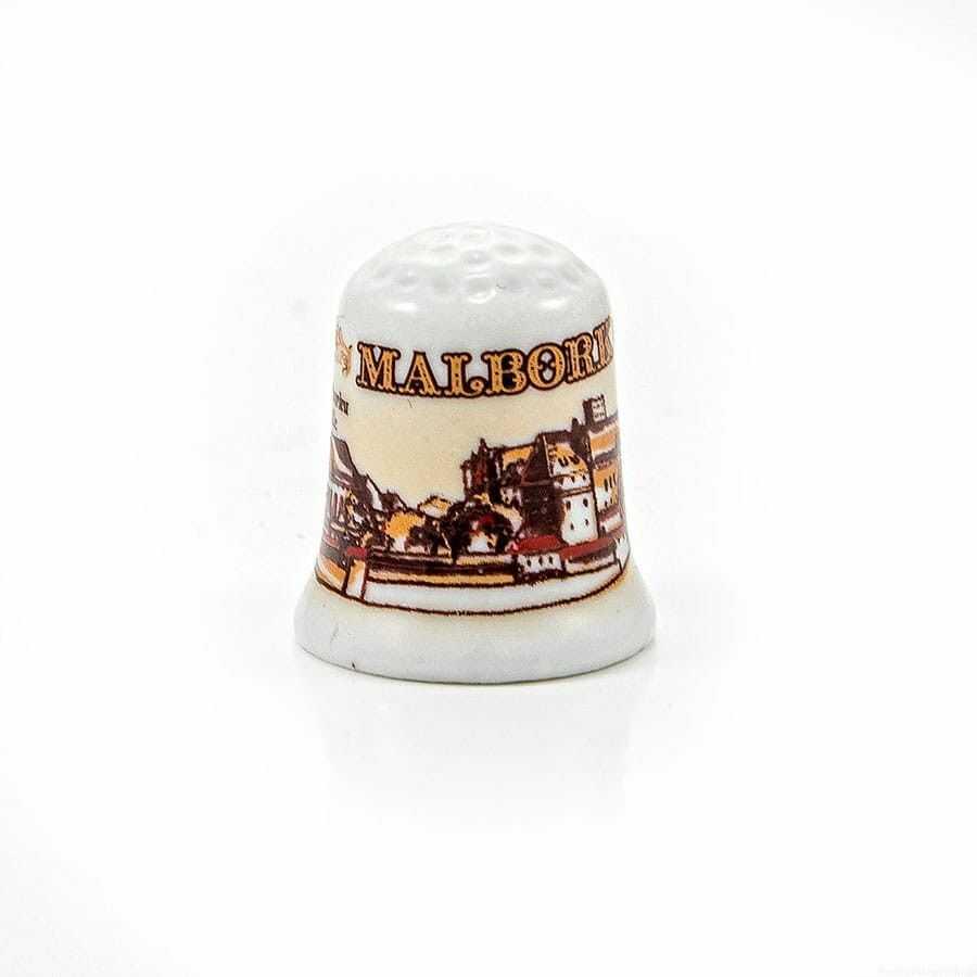 Naparstek ceramiczny Malbork Zamek sepia