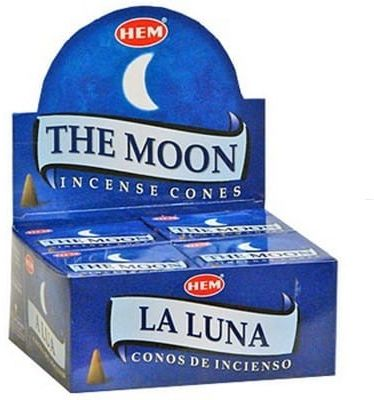 Kadzidełka Moon Stożkowe Stożki HEM 10szt.