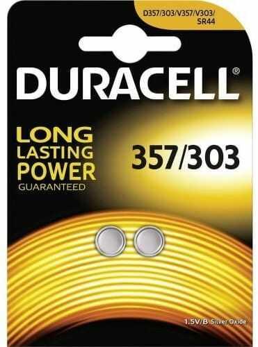 2 x bateria srebrowa mini Duracell 357-303 /G13 / SR44W