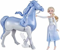 Hasbro Disney Frozen 2 Elsa & Nokk, zabawka dla dzieci, magia wodna i zabawa w lądzie, lalki inspirowane Frozen 2