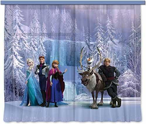 """Firanka/zasłona FCS XL 4303 Disney, Frozen, 180 x 160 cm, 2-częściowa"""""""