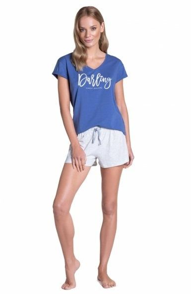 Esotiq-henderson tulip 38900 niebieska piżama damska