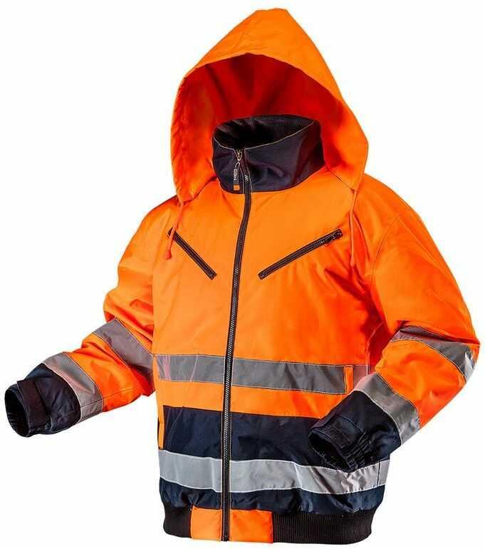 Kurtka robocza ostrzegawcza ocieplana, pomarańczowa, rozmiar M 81-711-M