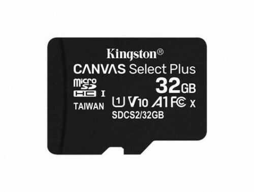 Kingston Karta pamięci microSD 32GB Canvas Select Plus 100MB/s BEZ ADAPTERA