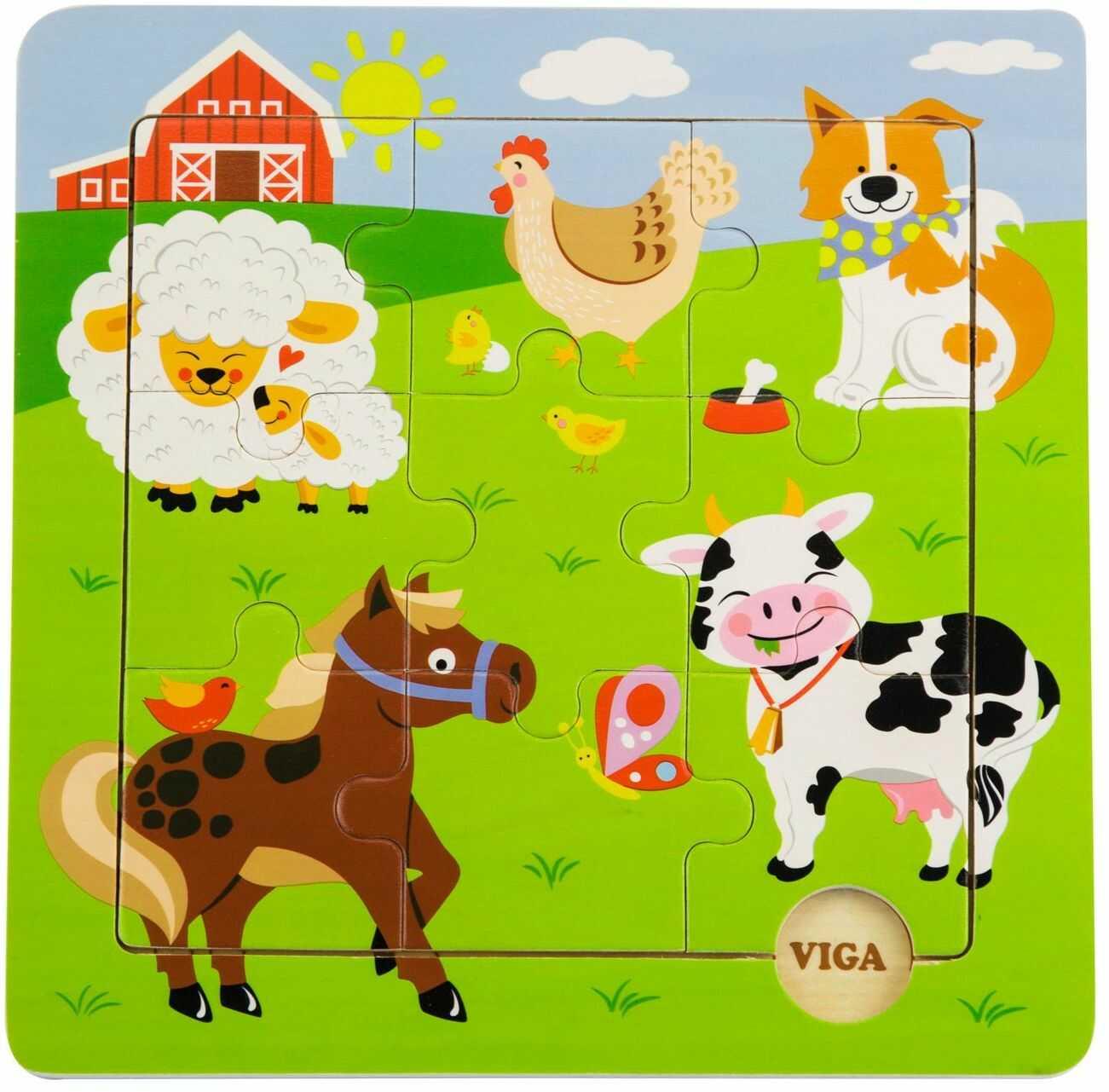 Viga Zabawki - 50837 - Puzzle Discovery - Gospodarstwo rolne