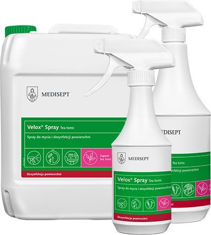 Preparat do dezynfekcji sprzętu medycznego o przyjemnym zapachu (MediSept Spray TeaTonic)