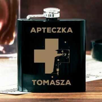 Apteczka - Piersiówka z grawerem