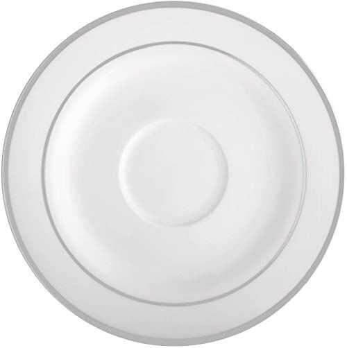 Ambition 23076 Aura Silver 15,5 cm podstawka podstawka okrągła podstawka porcelana nowoczesny elegancki