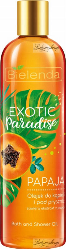 Bielelda - Exotic Paradise - Bath and Shower Oil - Papaja - Olejek do kąpieli i pod prysznic z ekstraktem z papai - 400 ml