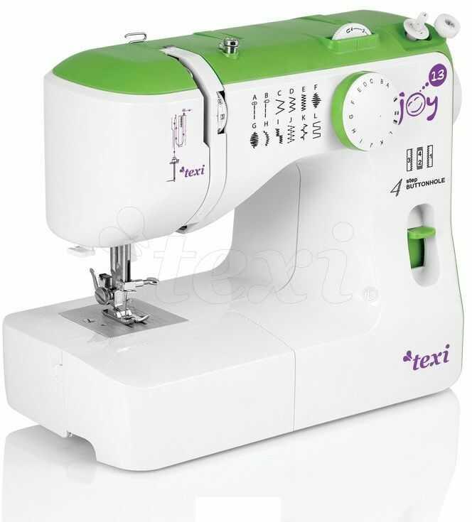 Maszyna do szycia Texi Joy 13 Green - 13 ściegów + RABAT dla zalogowanych
