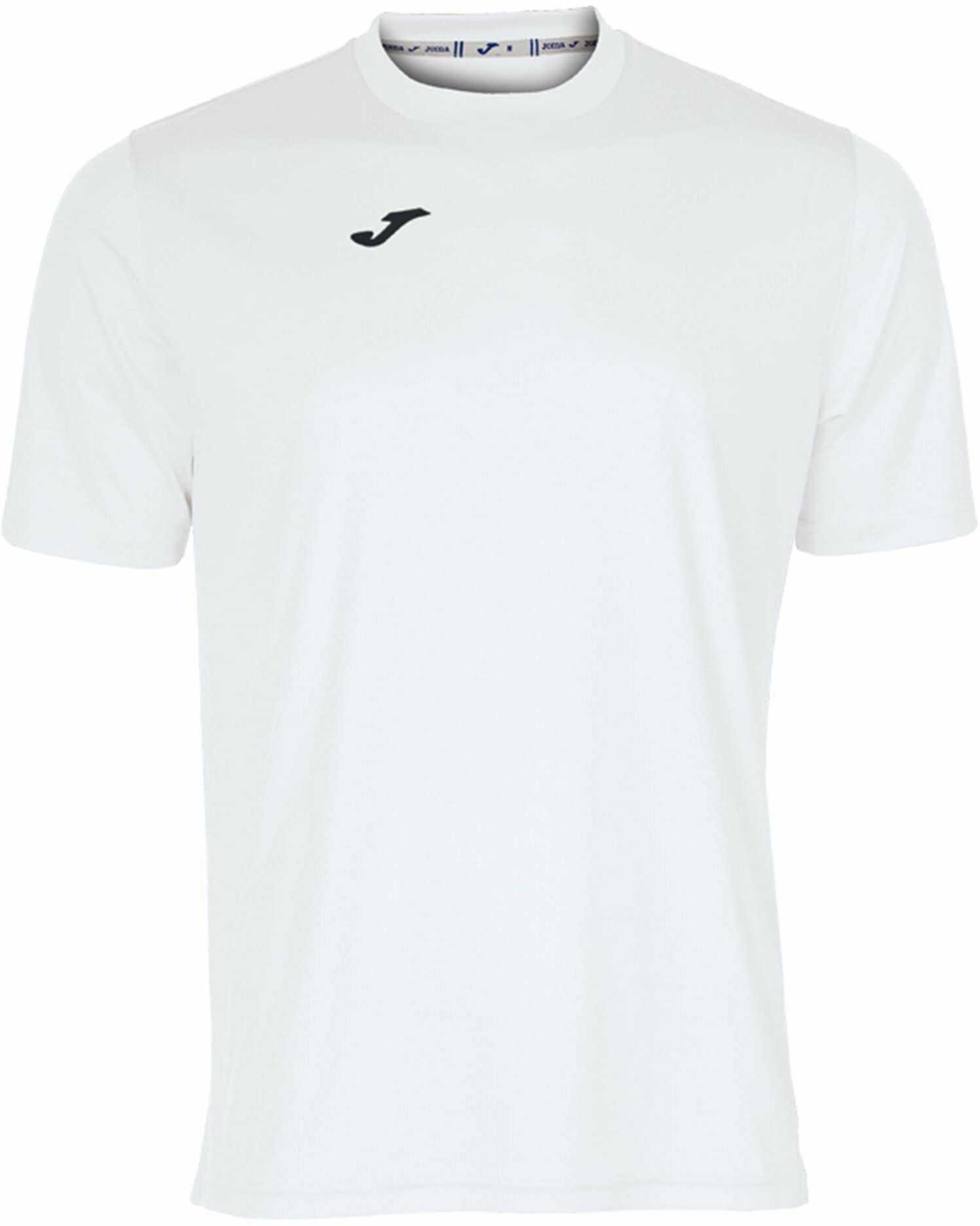 Joma męska koszulka 100052.200 Joma 100052.200 z krótkim rękawem - biały/biały, 2X-mały Biały/biały XL