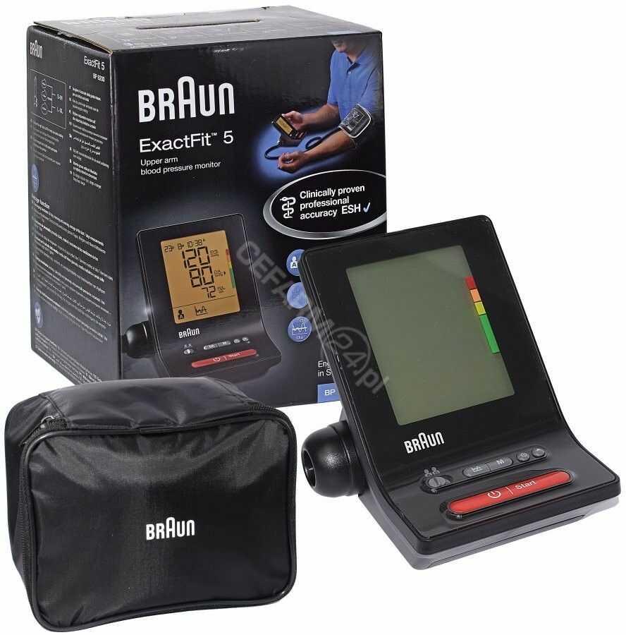 Braun ExactFit 5 BP6200 Ciśnieniomierz naramienny 22-32 i 32-42 cm z podświetleniem