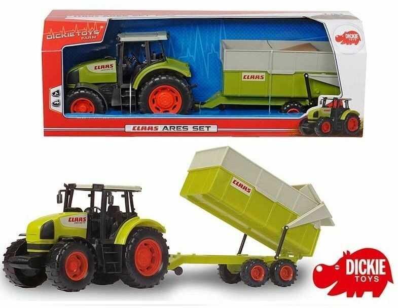 Dickie - Traktor Class Ares z przyczepą 3739000