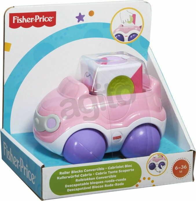 Fisher Price - Różowe autko z klockiem CGD00 CDV89