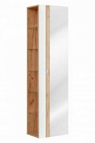 Szafka wysoka z lustrem 170 x 45 x 33 cm ,Seria Capri White