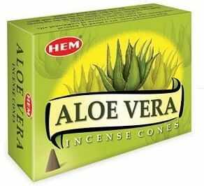 Kadzidełka Aloes Stożkowe Stożki Aloe Vera HEM 10szt.