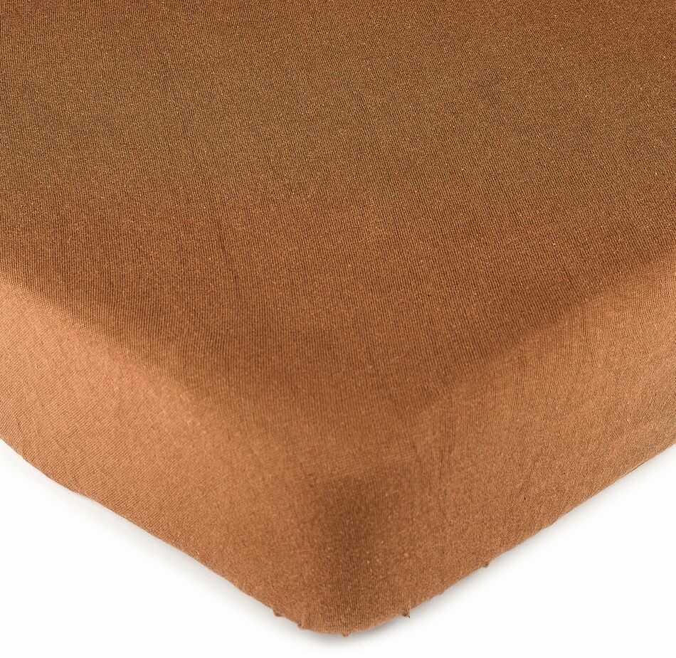 4Home prześcieradło jersey brązowe, 90 x 200 cm, 90 x 200 cm