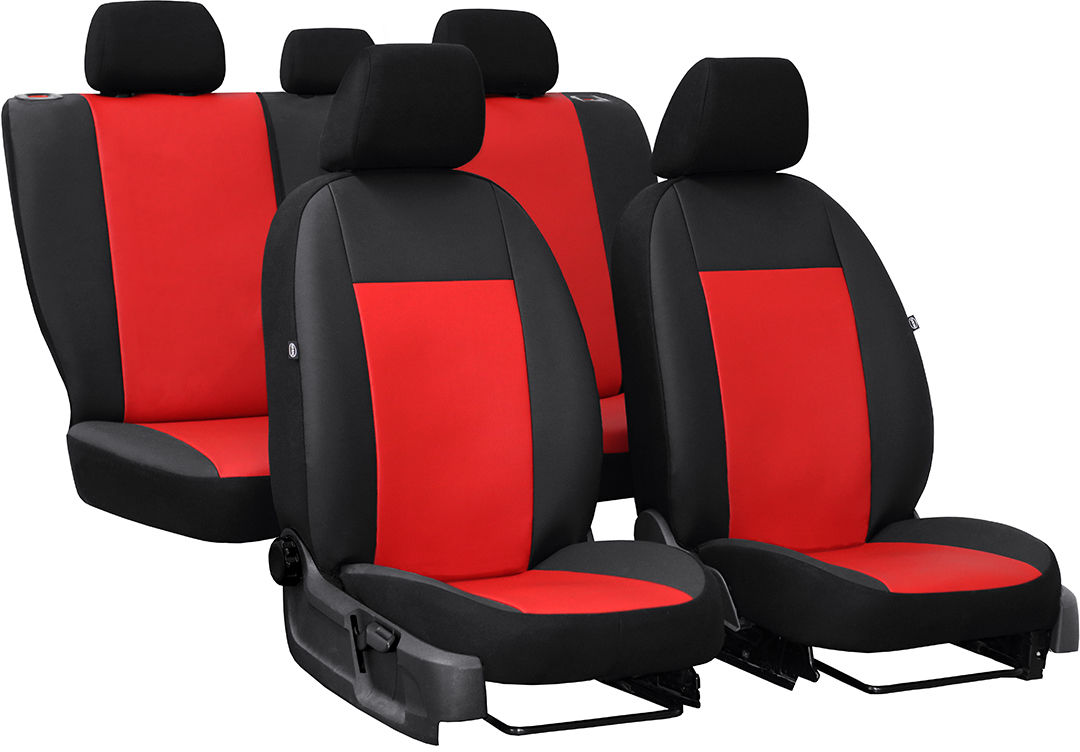 Pokrowce samochodowe do Ford Fusion van, Pelle, kolor czerwony