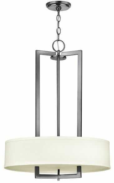 Lampa wisząca Hampton HK/HAMPTON/P/B Hinkley biała oprawa w nowoczesnym stylu