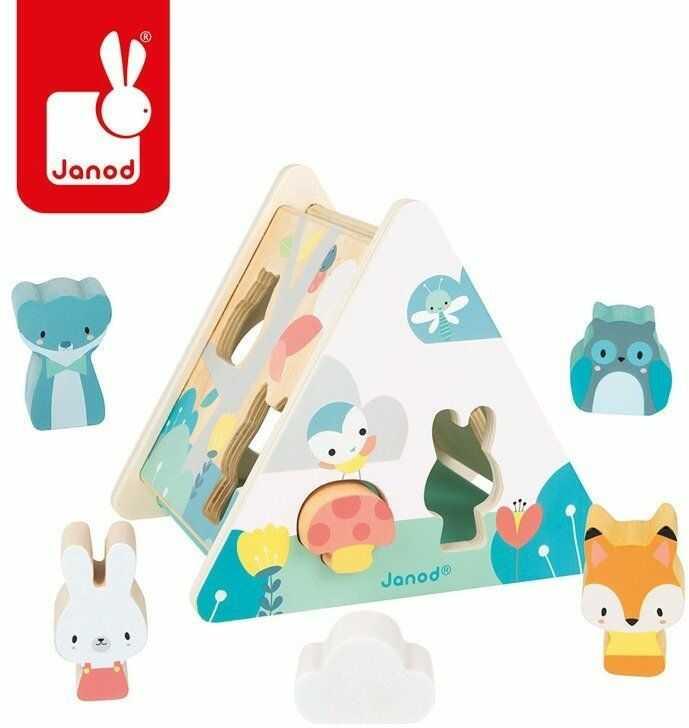 Trójkątny sorter kształtów Pure J05150-Janod, zabawki edukacyjne