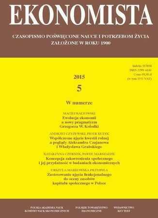 Ekonomista 2015 nr 5 - Ebook.