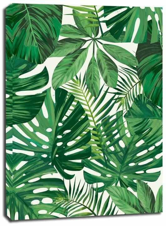 Zielone tło - obraz na płótnie wymiar do wyboru: 40x50 cm
