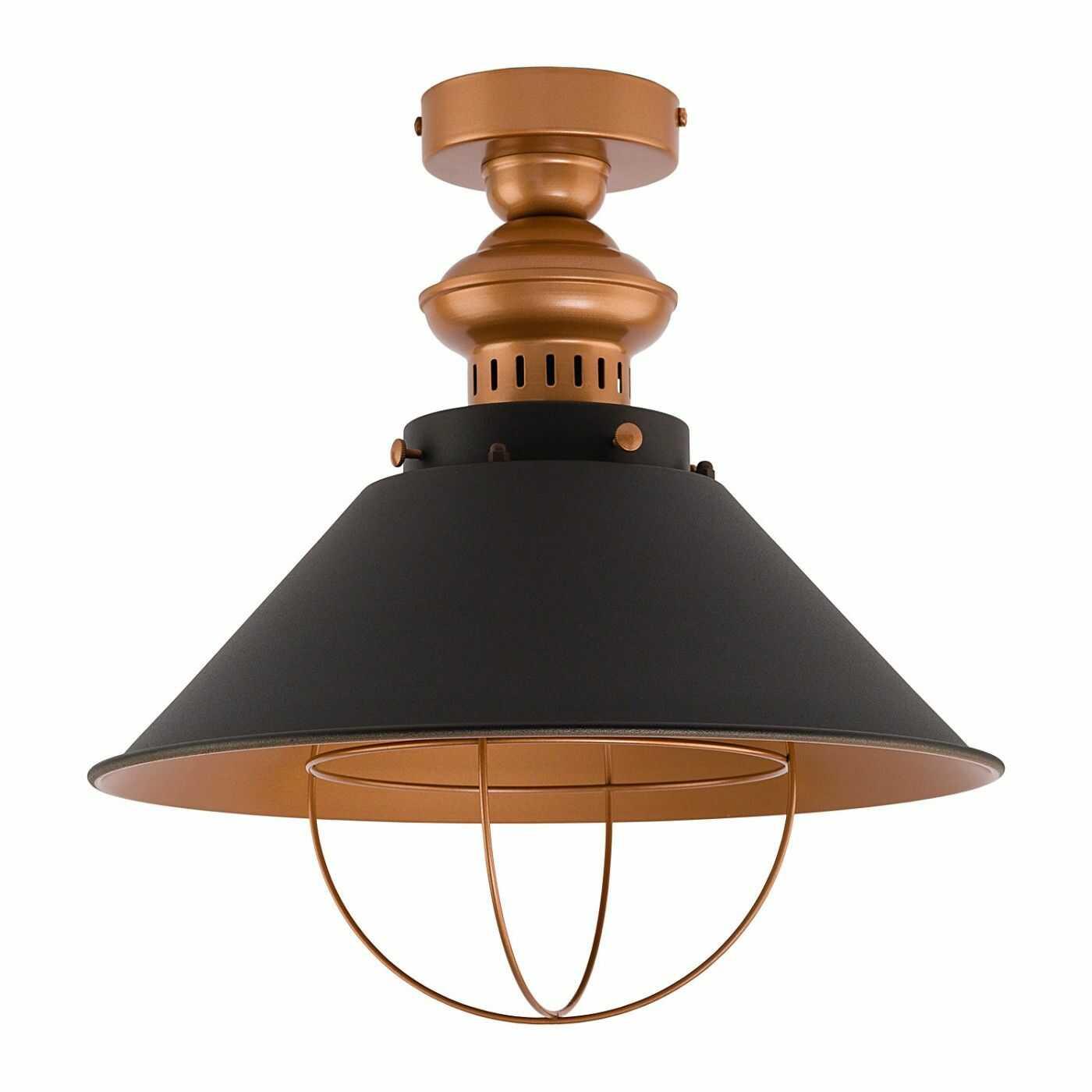 Plafon Garret 9247 Nowodvorski Lighting stalowa oprawa w kolorze czekoladowo-miedzianym