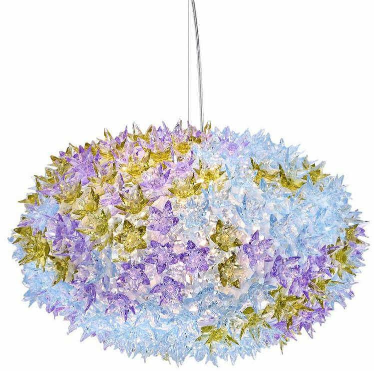 Bloom S2 fioletowy - Kartell - lampa wisząca