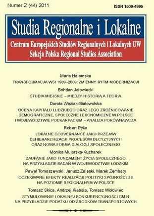 Studia Regionalne i Lokalne nr 2(44)/2011 - Ebook.