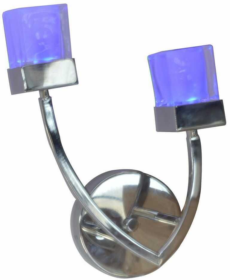 Milagro GLORIA ML332 kinkiet lampa ścienna nowoczesna klosze szklane 2x40W G9 24cm