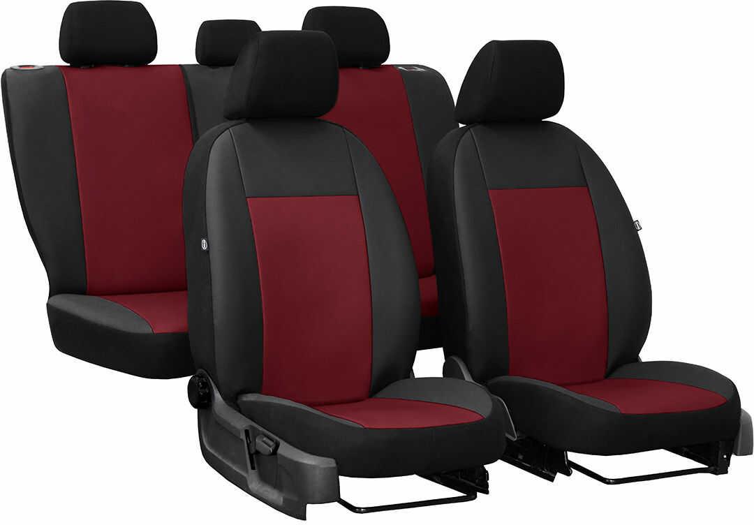 Pokrowce samochodowe do Ford Fusion van, Pelle, kolor bordowy