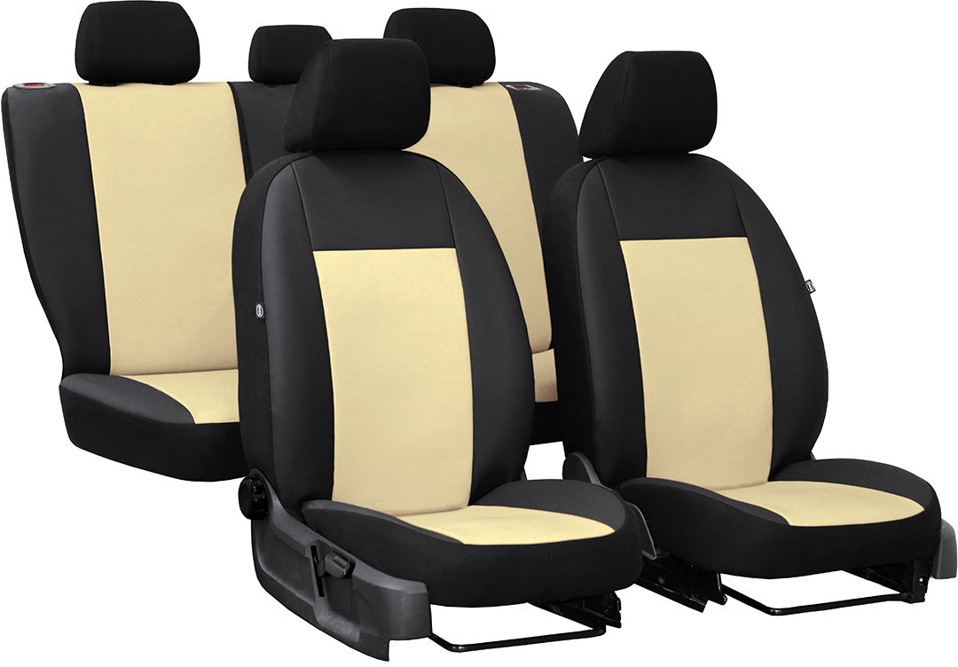 Pokrowce samochodowe do Ford Fusion van, Pelle, kolor beżowy