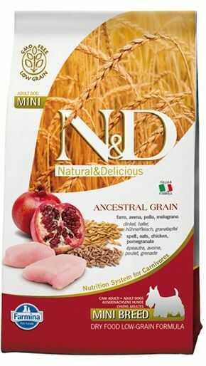 Farmina N&D Ancestral Grain Chicken&Pomegranate Adult Mini Dog