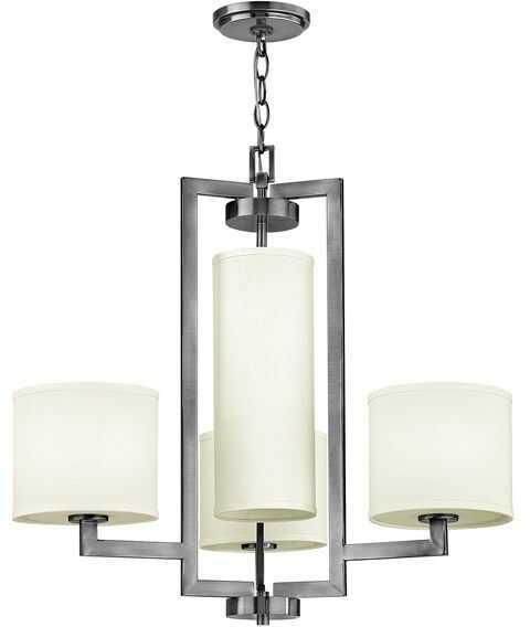 Lampa wisząca Hampton HK/HAMPTON4 Hinkley poczwórna oprawa w nowoczesnym stylu
