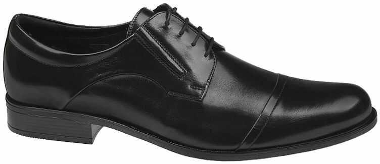 Półbuty wizytowe CONHPOL C-4844 Czarne eleganckie