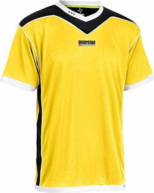 Derbystar koszulka Brillant krótka 116/128, żółta czarna, 6000128520