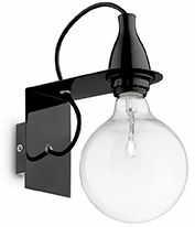 Kinkiet MINIMAL AP1 NERO 045214 -Ideal Lux  Skorzystaj z kuponu -10% -KOD: OKAZJA