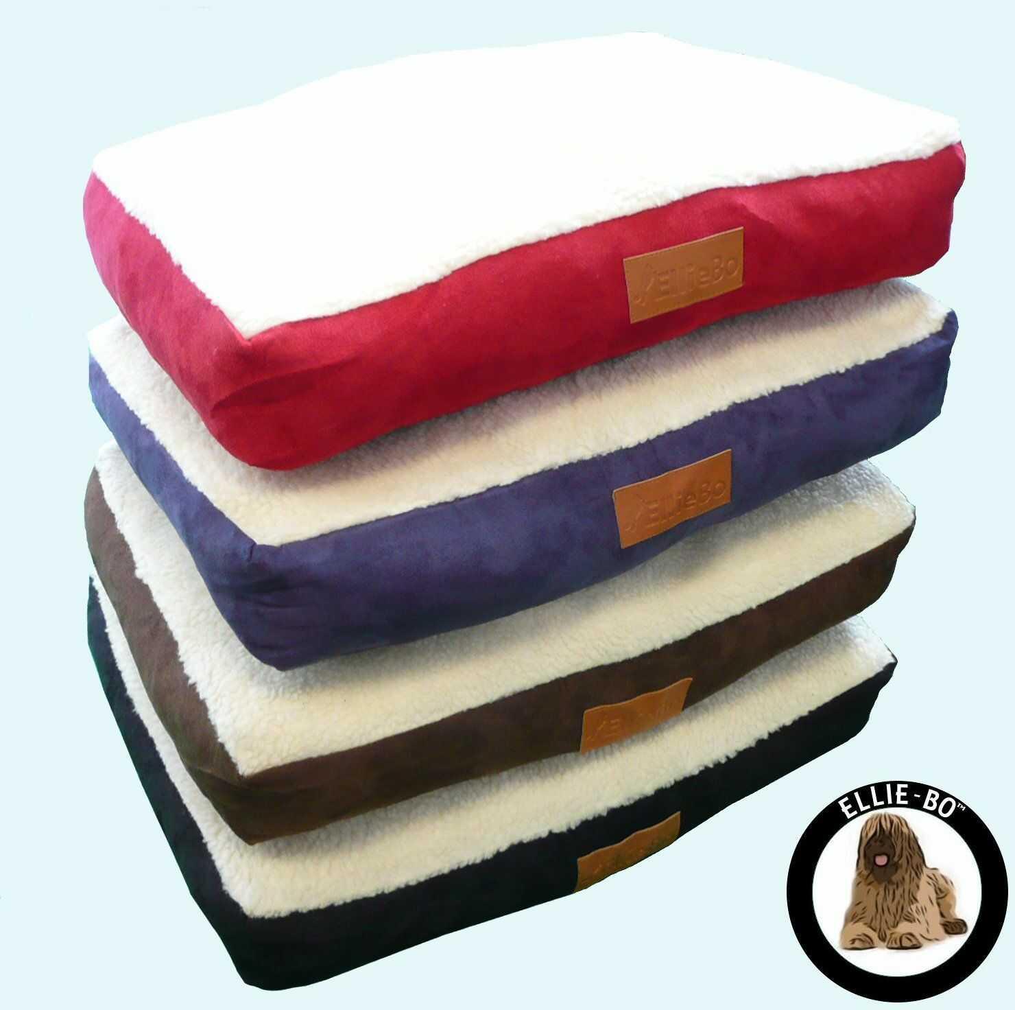 Ellie-Bo legowisko dla psa ze sztucznego zamszu i owczej skóry do klatki dla psów, XL, 117 x 75 x 10 cm