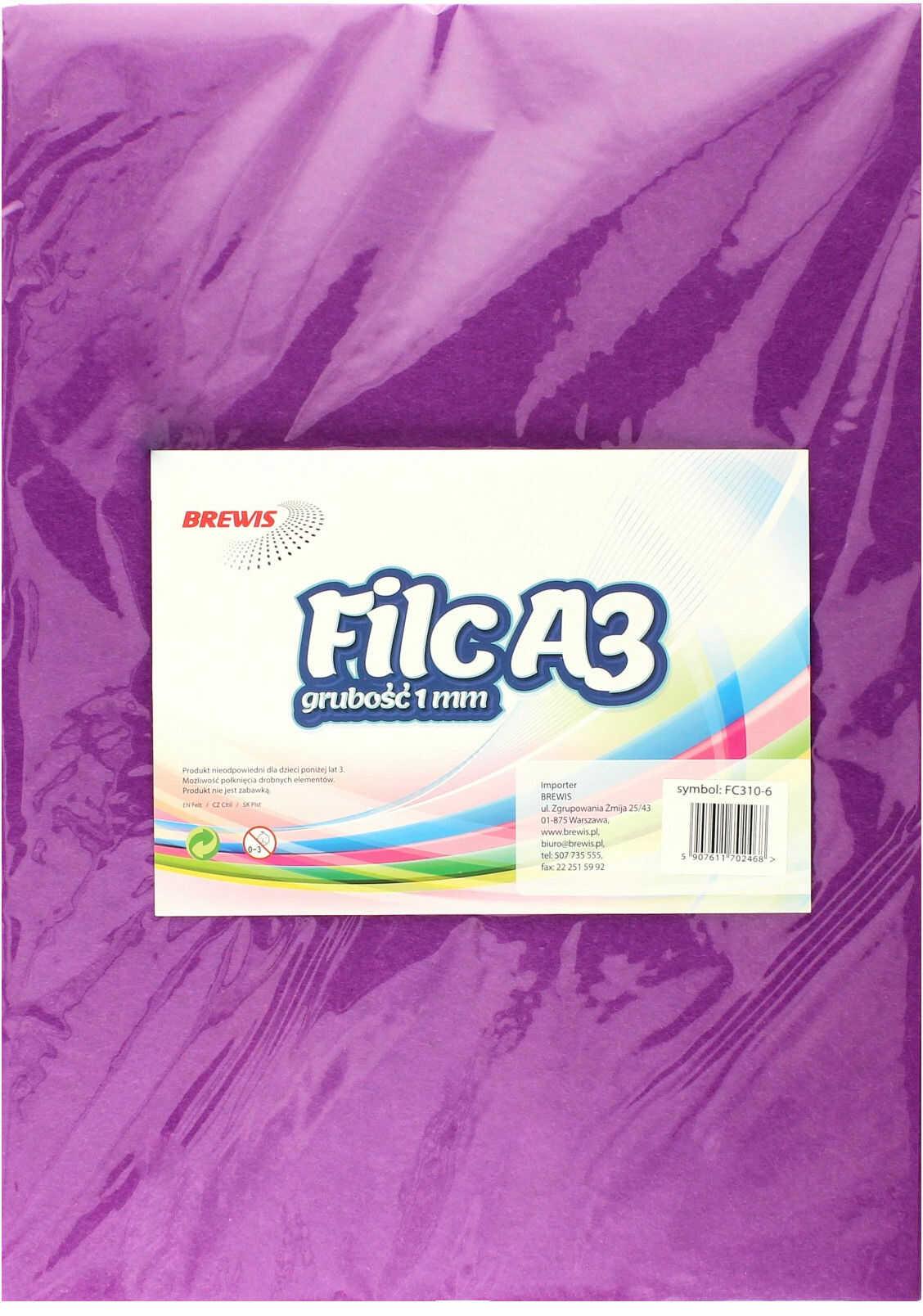 Filc A3 fioletowy Brewis (10)
