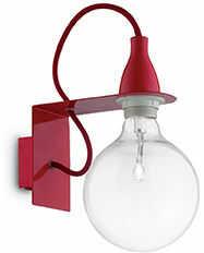 Kinkiet MINIMAL AP1 ROSSO 045221 -Ideal Lux  Skorzystaj z kuponu -10% -KOD: OKAZJA