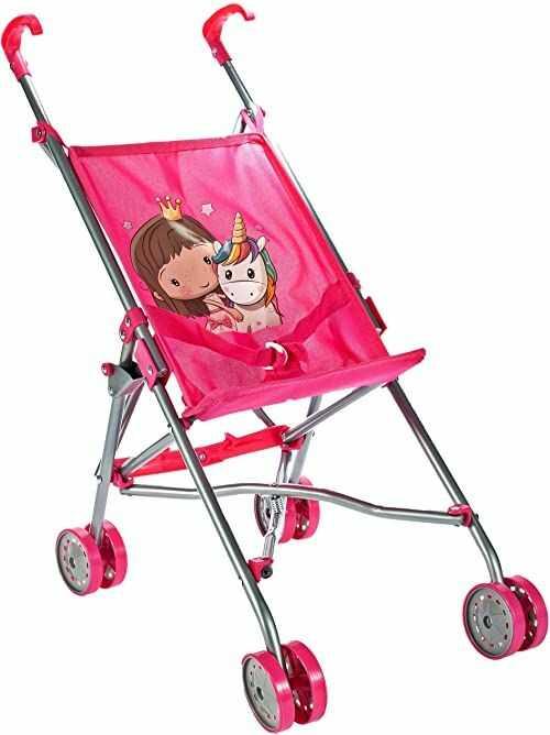 Malis 5901924217503 Wózek Spacerówka Parasolka Unicorn ,Różowy