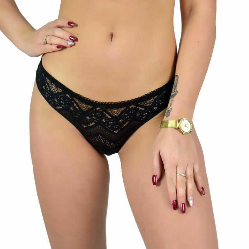 Figi damskie seksowne czarne koronka Beauty Senses BS001157