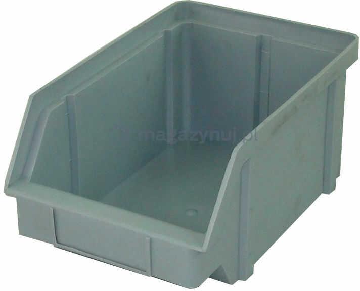 Pojemnik warsztatowy z polipropylenu standardowego, wym. 224 x 144 x 108 mm (Kolor szary)