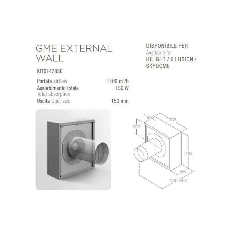 Silnik ELICA GME EXTERNAL WALL (zewnętrzny naścienny) - Największy wybór - 28 dni na zwrot - Pomoc: +48 13 49 27 557