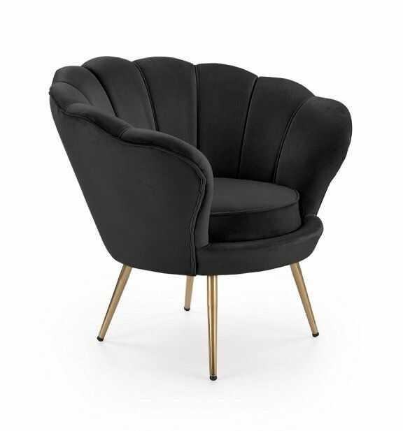 Fotel Amorino - czarny